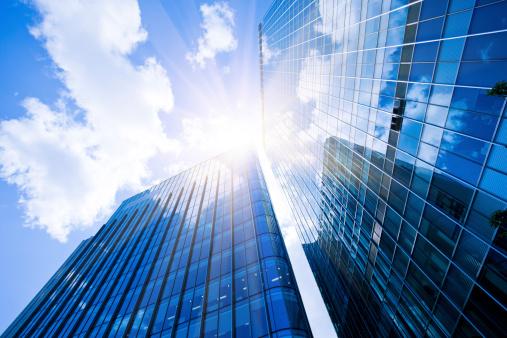 Cloud - Sky「Business District, Corporate Buildings in London」:スマホ壁紙(4)