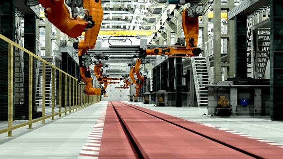 Intelligence「Robots in factory of future」:スマホ壁紙(18)