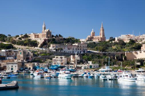 Cathedral「Mgarr harbor, Gozo island, Malta」:スマホ壁紙(10)