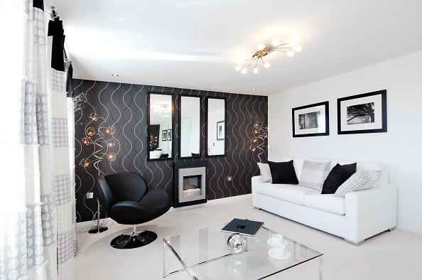 Living Room「Luxury modern lounge in new build house」:写真・画像(5)[壁紙.com]