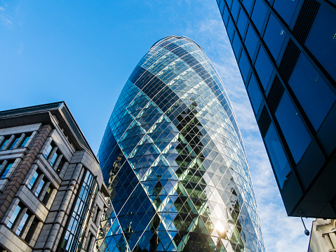 St「UK, London, City of London, view to 30 St Mary Axe at financial district」:スマホ壁紙(0)
