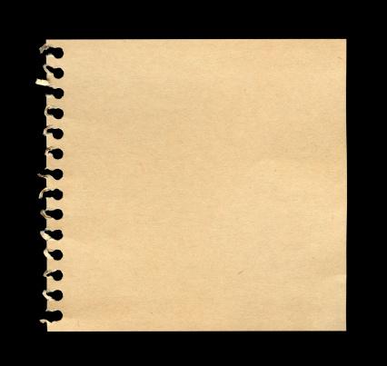 Hole「Torn Notebook Page (XXXL)」:スマホ壁紙(1)