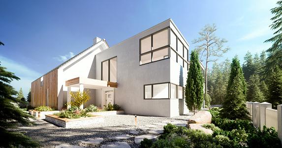 Coniferous Tree「Modern Villa」:スマホ壁紙(10)