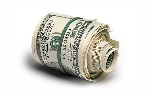 American One Hundred Dollar Bill「Dollar bank roll」:スマホ壁紙(15)