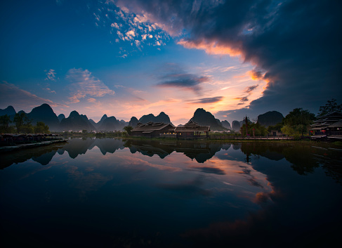 Standing Water「Guilin scene of Guangxi,China」:スマホ壁紙(16)