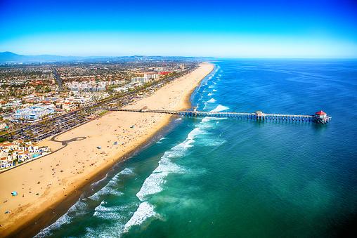 Pier「Huntington Beach California From Above」:スマホ壁紙(5)