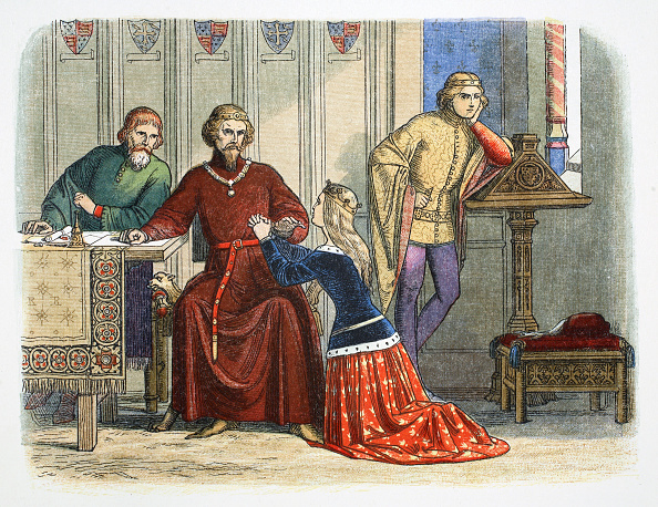 Burley - England「Queen Anne Intercedes With Gloucester And Arundel For Sir Simon De Burley 1388 (1864)」:写真・画像(11)[壁紙.com]