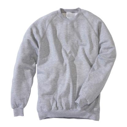 Sweatshirt「Grey sweatshirt on white background」:スマホ壁紙(1)