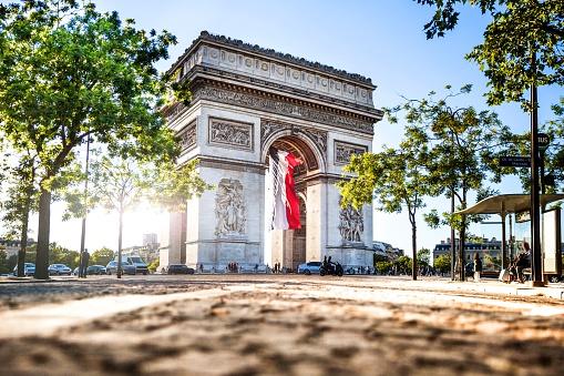 French Culture「Paris city view - Arc de Triomphe」:スマホ壁紙(11)