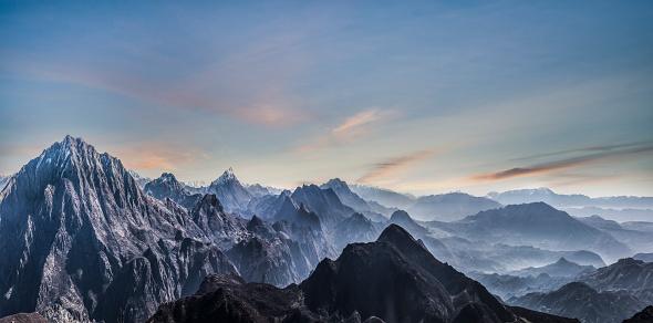 Nepal「Fading Mountain landscape of Himalayas」:スマホ壁紙(13)