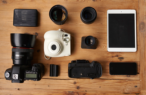 Knolling - Concept「Everything you need to be a photographer」:スマホ壁紙(9)