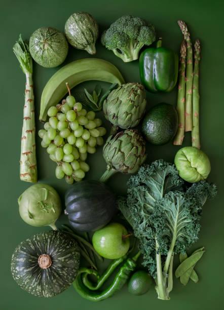 Green fruits and vegetables:スマホ壁紙(壁紙.com)