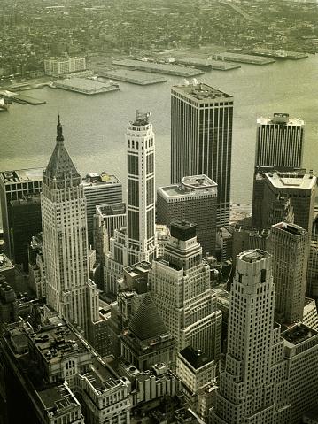 1980-1989「Skyline View of Financial District from World Trade Center」:スマホ壁紙(10)