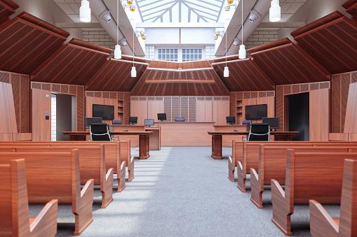 Legal System「Empty Courtroom」:スマホ壁紙(9)