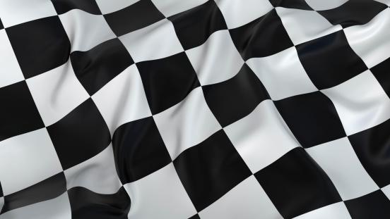 Motorsport「A rumpled black and white checkered flag」:スマホ壁紙(1)