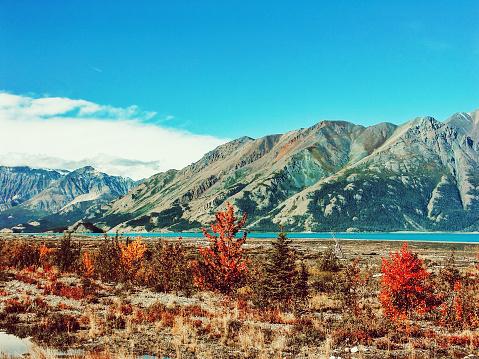 クルエーン山脈「クルアン湖,ユーコン,カナダ」:スマホ壁紙(3)