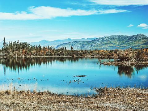 クルエーン山脈「クルアン湖,ユーコン,カナダ」:スマホ壁紙(2)