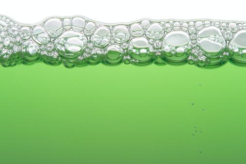 Soap「Green liquid with foamy bubbles」:スマホ壁紙(9)