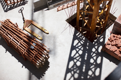Construction Frame「Girders on construction site」:スマホ壁紙(7)