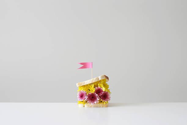 flower filled sandwich with  flag:スマホ壁紙(壁紙.com)