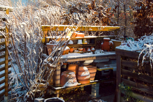 Planting「Compost and a garden work bench during winter time」:スマホ壁紙(16)
