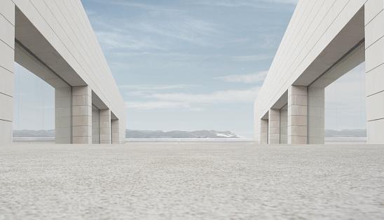 Symmetry「Empty outdoor space」:スマホ壁紙(3)