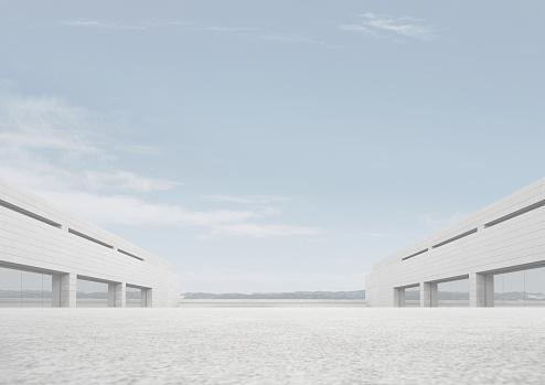 Symmetry「Empty outdoor space」:スマホ壁紙(5)