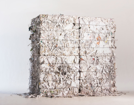 Recycling「Stack of paper bales」:スマホ壁紙(2)