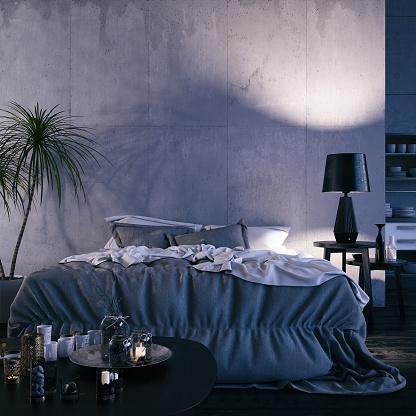 Messy「Loft Bedroom at Night」:スマホ壁紙(13)