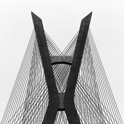 Steel Cable「Brazil, Sao Paulo State, Sao Paulo, Estaiada Bridge」:スマホ壁紙(14)