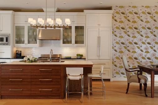 Domestic Kitchen「Wide shot of residential kitchen」:スマホ壁紙(19)