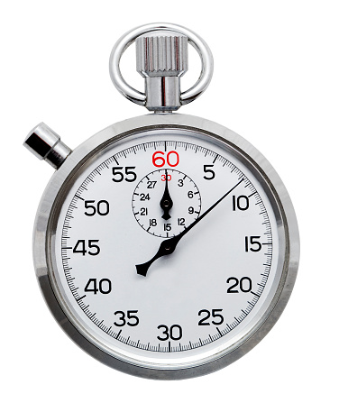 Stopwatch「A silver stopwatch isolated on a white background」:スマホ壁紙(2)