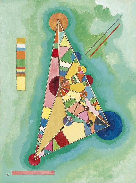 Geometric Shape「Colorful In The Triangle Artist: Kandinsky」:写真・画像(4)[壁紙.com]