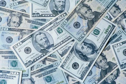 Politics「Various American Dollar Bills」:スマホ壁紙(2)