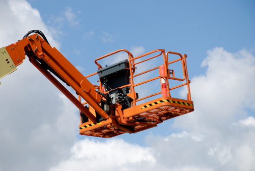Construction Vehicle「Orange cherry picker」:スマホ壁紙(11)