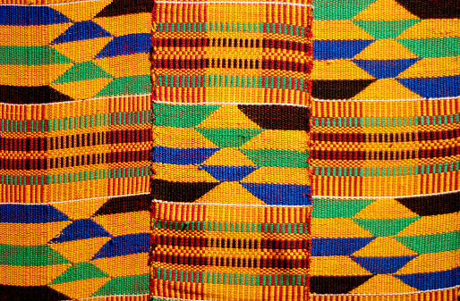 Woven Fabric「African colored pattern fabric background」:スマホ壁紙(16)