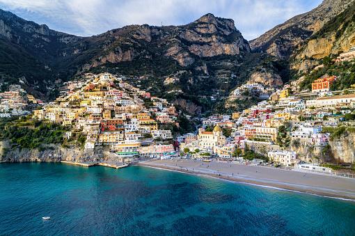 Tyrrhenian Sea「Positano - Amalfi Coast - Italy」:スマホ壁紙(6)