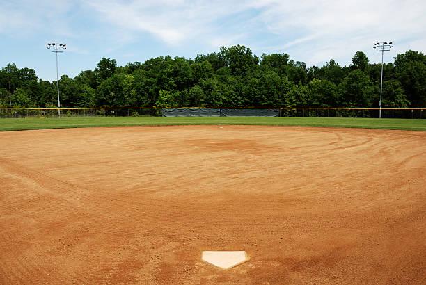 Baseball or softball field:スマホ壁紙(壁紙.com)