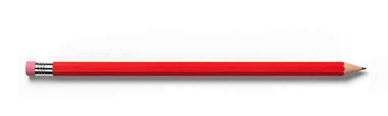 Pencil「Red pencil with eraser and copy space」:スマホ壁紙(17)