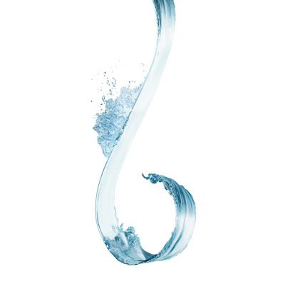 Curve「Water splash in midair on white background」:スマホ壁紙(9)