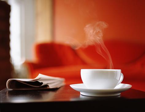Steam「Coffee Cup on Table」:スマホ壁紙(13)