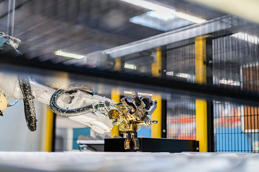 Robotics「Robotic arm over production line in industry」:スマホ壁紙(14)