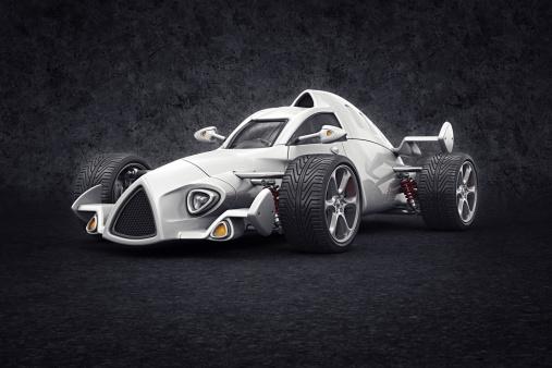 Hot Rod Car「white racecar」:スマホ壁紙(5)