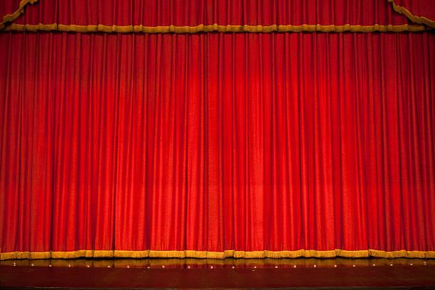 Red theater performance stage:スマホ壁紙(壁紙.com)
