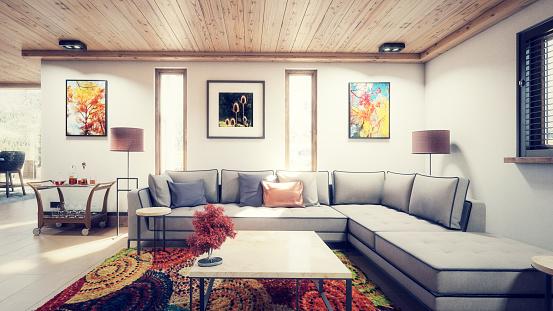 Part of a Series「Luxurious Holiday Villa Interior (Toned Image)」:スマホ壁紙(8)