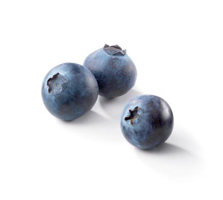 Blueberry「Three blueberries on a white background」:スマホ壁紙(3)