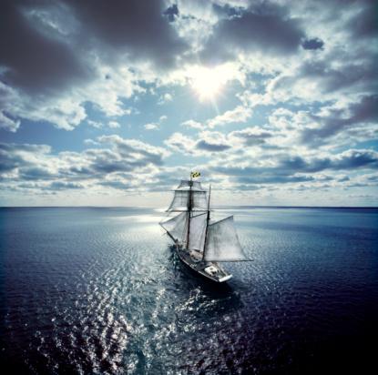 Sailing Ship「Schooner Sailing in the Chesapeake Bay」:スマホ壁紙(15)