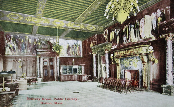Delivery Room「Boston (Massachusetts). Public Library. Delivery Room. About 1910. Photograph. Coloured Picture Postcard.」:写真・画像(5)[壁紙.com]