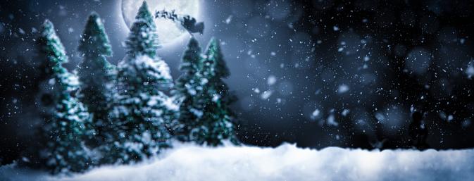 reindeer「Christmas Night with Santa and Moon」:スマホ壁紙(0)
