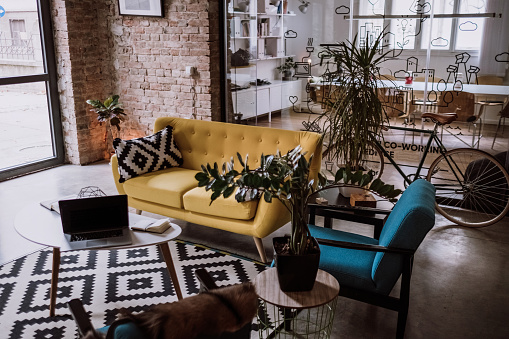 Domestic Life「Loft Appartment Turned Into Luxurios Office」:スマホ壁紙(6)